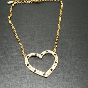 Guess Gold and Black Heart Necklace